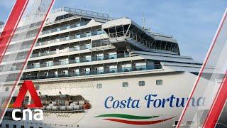 Costa Fortuna cruise ship docks in Singapore