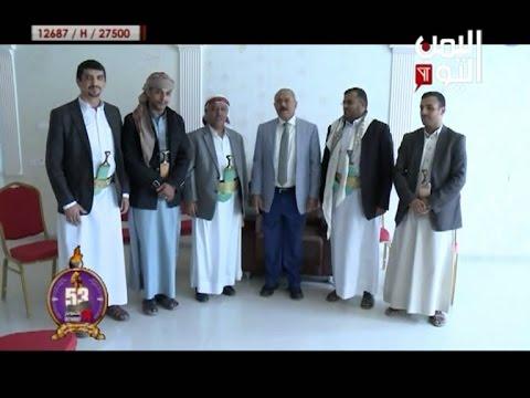 فيديو: علي عبدالله صالح يستقبل الراعي وابناء وأقارب عبدالقادر هلال والذفيف