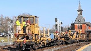 CSX Rail Train Meets Light Power