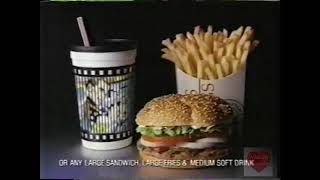 Burger King | Last Action Hero Cups | Television Commercial | 1993
