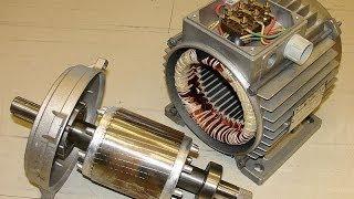 Процесс сборки асинхронного двигателя.(Асинхро́нная маши́на — электрическая машина переменного тока, частота вращения ротора которой не равна..., 2014-03-21T01:00:01.000Z)
