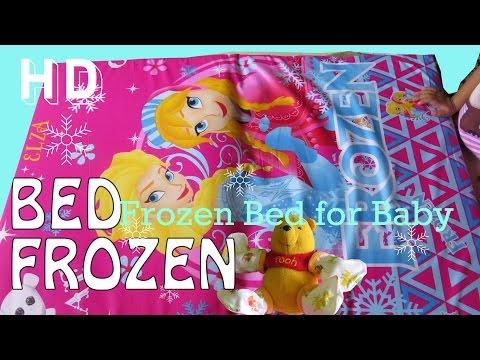 Tempat Tidur Lifia Niala Bayi Frozen Elsa ❤  Teddy Bear Doll on Frozen Bed - Kids Activities