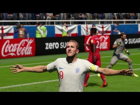 World Cup 2018 - England vs Panama - Group G Full Match Sim (FIFA 18)