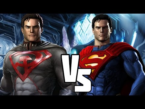 injustice gods among us versus red son vs superman road