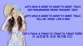 4Minute Heart To Heart Color Coded Romanization.English.Hangul Lyri...