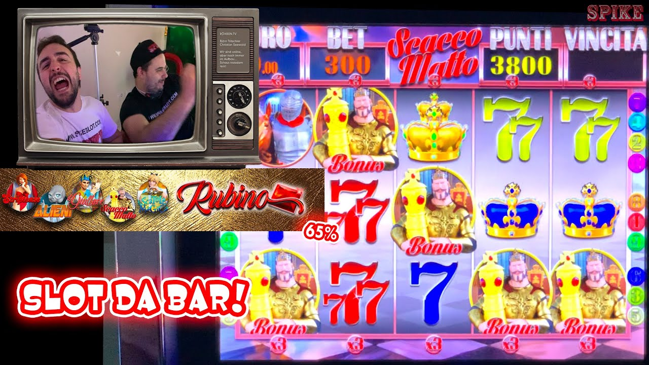 SLOT MACHINE da BAR - Proviamo la RUBINO Multigame al 65%