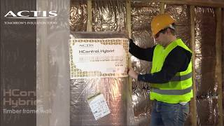 How to insulate a timber frame wall with HCONTROL HYBRID