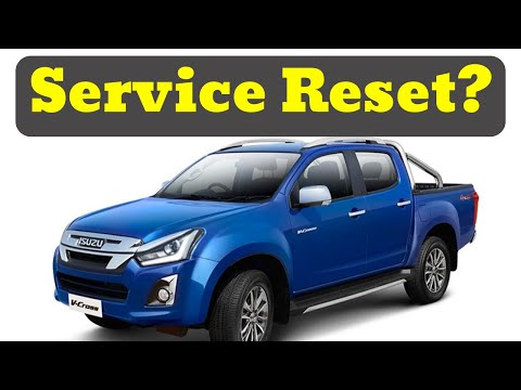 ISUZU D-MAX Rodeo 2012 On How To Reset Service Interval
