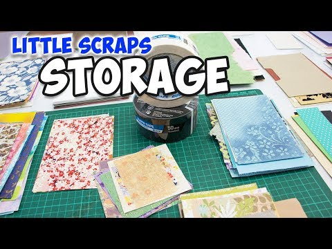 How To Store Cardstock Paper Scraps