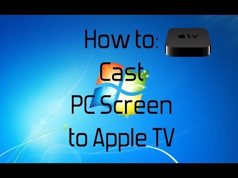Cast computer screen to apple tv