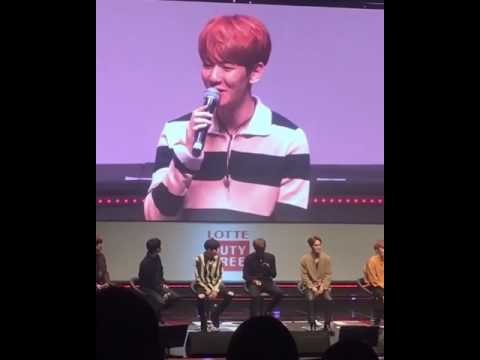 Baekhyun singing Take you home- EXO LOTTE FANMEETING