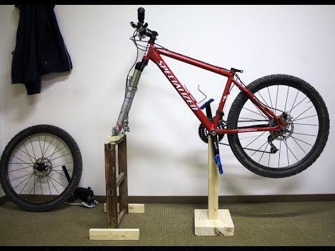 Making a simple bike repair stand