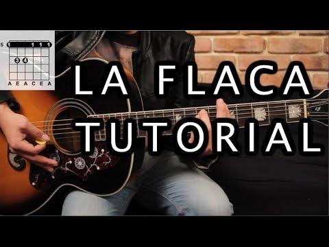 """Como tocar """"La Flaca"""" de Jarabe de Palo - Tutorial Guitarra (Acordes) HD"""