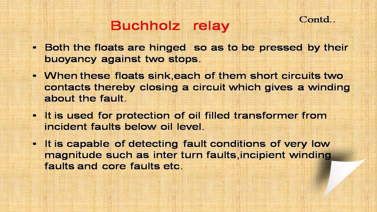 Buchholz relay YouTube