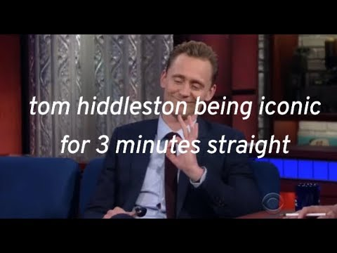 Tom Hiddleston being iconic for 3 minutes straight