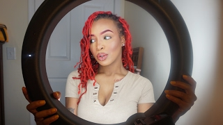 I FINALLY BOUGHT A RING LIGHT FROM AMAZON!