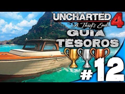 GUIA UNCHARTED 4 CAPITULO #12/EN EL MAR / TROFEOS TESOROS NOTAS Y ENTRADAS DE DIARIO ESPAÑOL