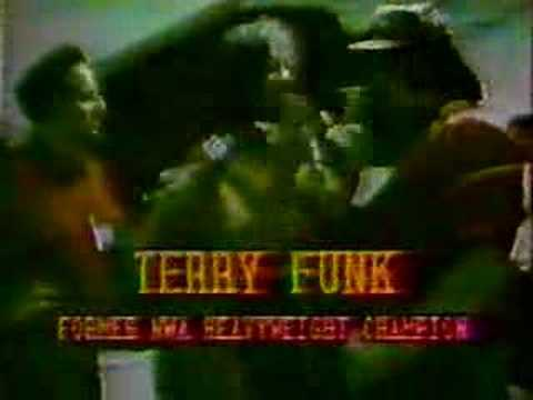 Terry Funk backstage interview