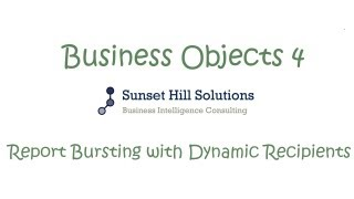 Business Objects 4x - Report Bursting with Dynamic Recipients