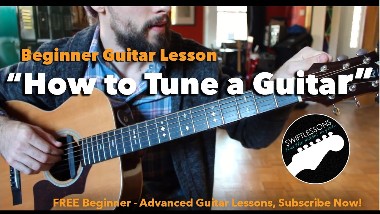 how to tune a guitar by ear beginner guitar lesson three easy methods youtube. Black Bedroom Furniture Sets. Home Design Ideas