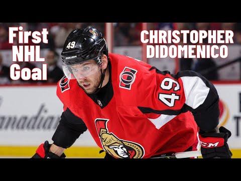Christopher DiDomenico #49 (Ottawa Senators) first NHL goal 27/10/2017