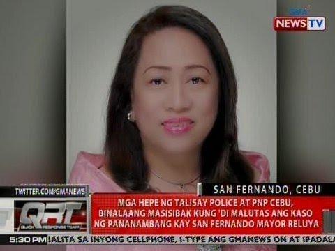 Mga hepe ng Talisay Police at PNP Cebu, binalaang masisibak kung 'di malutas ang kaso ni Reluya