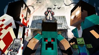 Monster School: PART 1 MOMO GRANNY HEROBRINE | Minecraft Animations