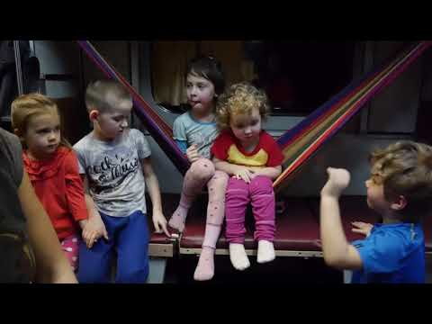 4 лайфхака в поезде с ребенком (гамак, ведерко, простынка, жд манеж)