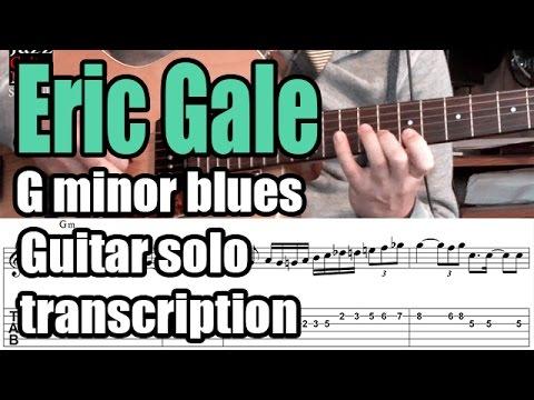 Eric Gale Guitar Solo Transcription - Minor blues - Too blue