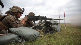 U.S. Marines in Romania!  Military Exercise Ends with Heavy Firepower!