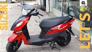 2018 Suzuki Lets   matte black & orange   detailed review   features   price   specifications !!!