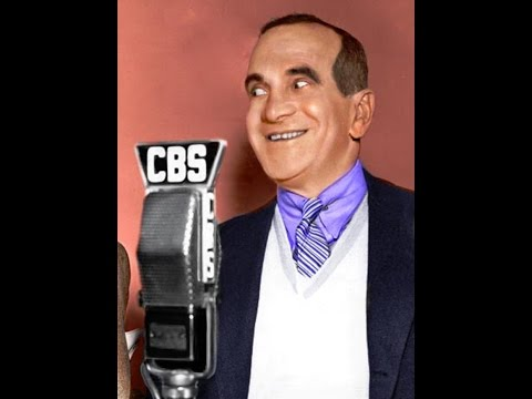 "Al Jolson from 1935 radio show singing the operetta ""Yes We Have No Bananas"""