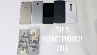Top 5 Budget Smartphones! (Early 2016)