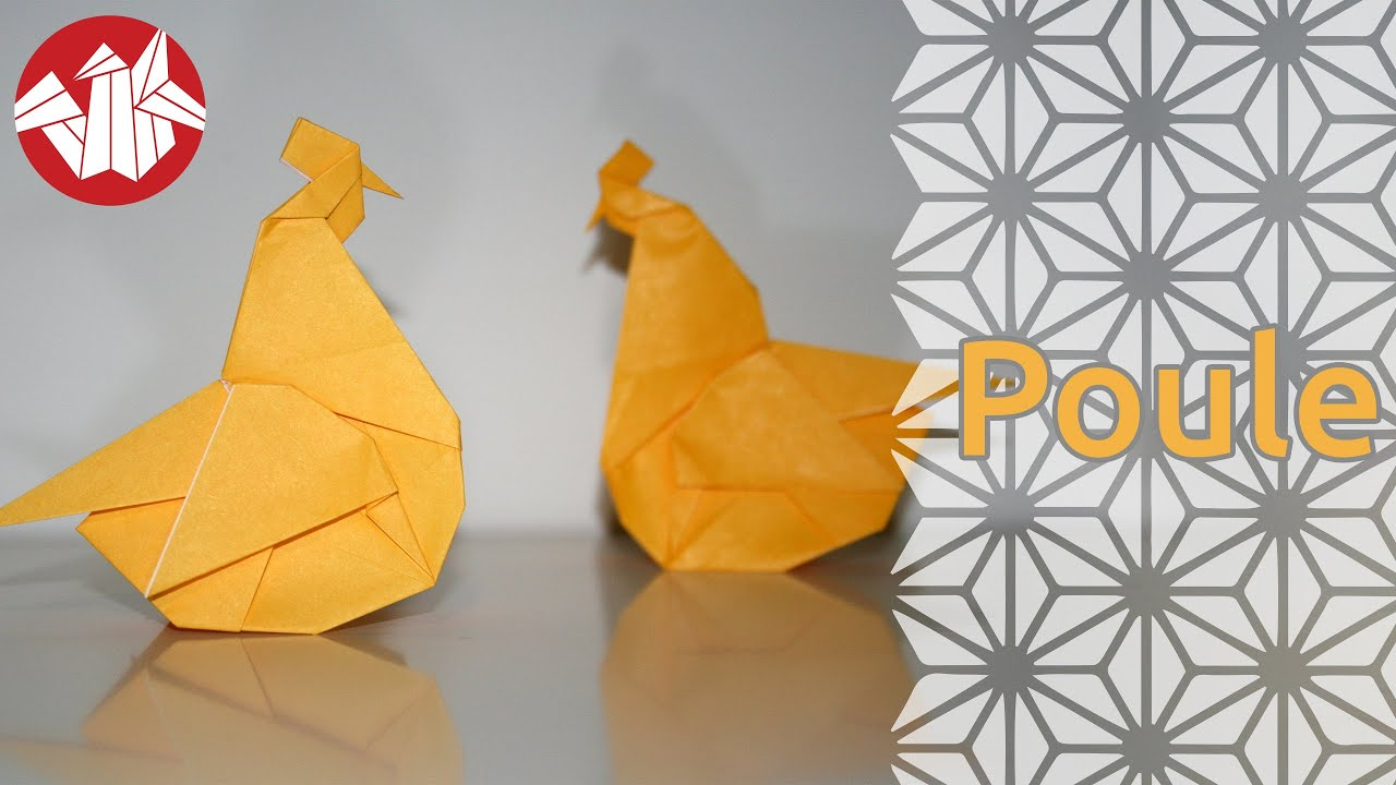 Origami poule hen senbazuru youtube for Poules decoration