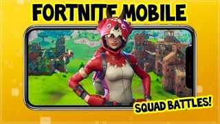 Fortnite On MOBILE DEVICE Gameplay CROSSPLAY Squads W/ Subscribers 900K Subs Tonight?