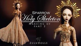 Zuludolls - OOAK porcelian art doll - Holy Skeleton part2