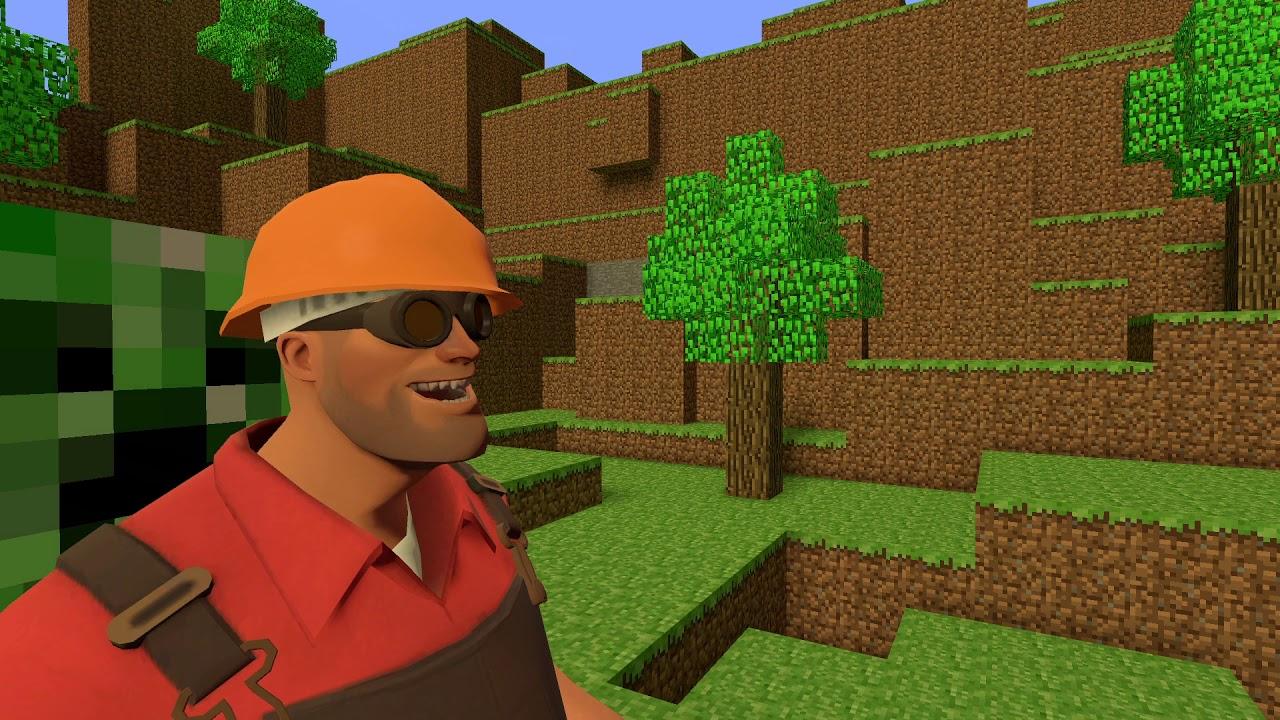 [GMOD] Engineer Teleports To a Minecraft World