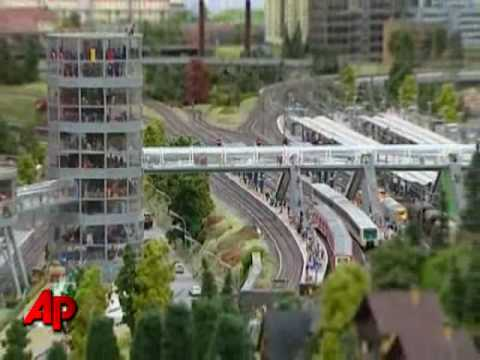 Model Railway Toy Train Scenery -Mind-Blowing Giant Train Set Becoming Major Tourist Draw