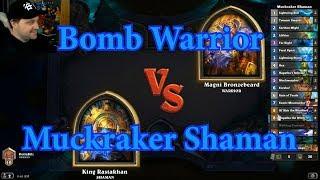 Control Muckmorpher Shaman vs Bomb Warrior | Hearthstone
