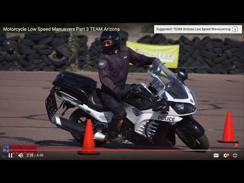 Motorcycle Slow Speed Maneuvering | Low Speed Motorcycle Control | TEAM Arizona Part 3
