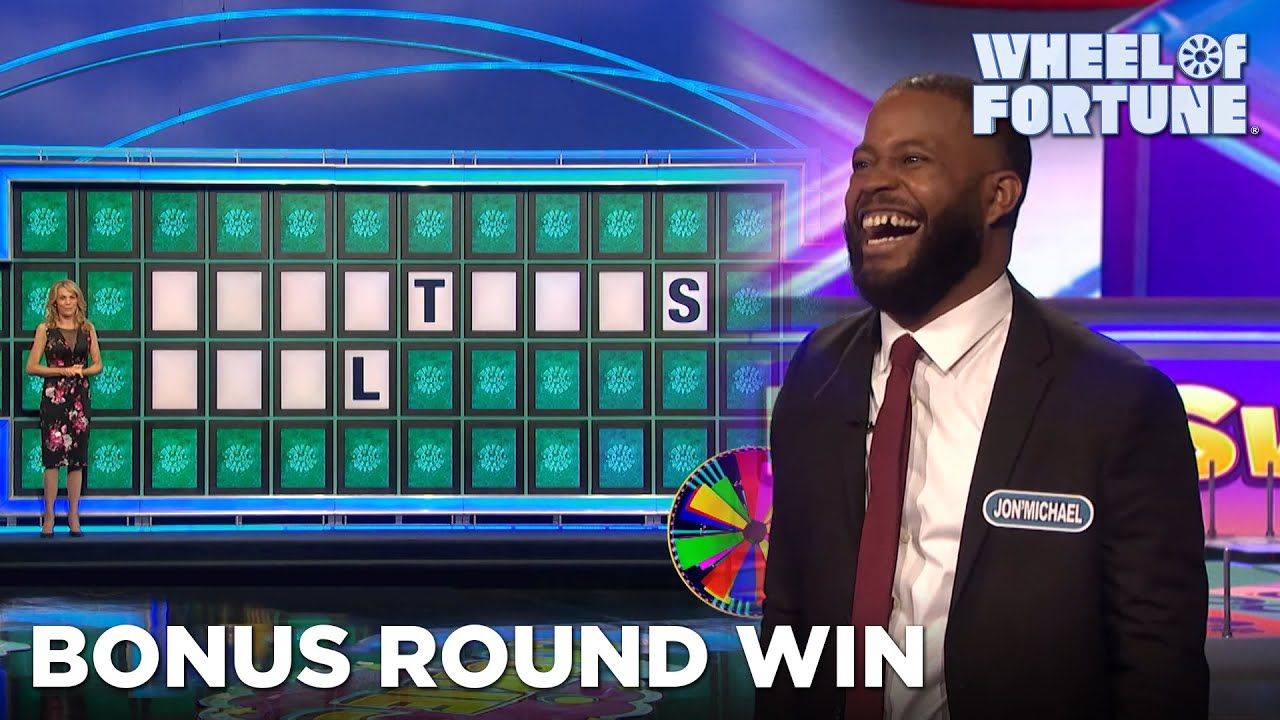 Jon'Michael Wins $38K in the Bonus Round | Wheel of Fortune