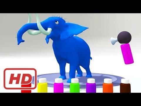 Farben Lernen Farben Mit Elefant Malvorlagen Fur Kinder