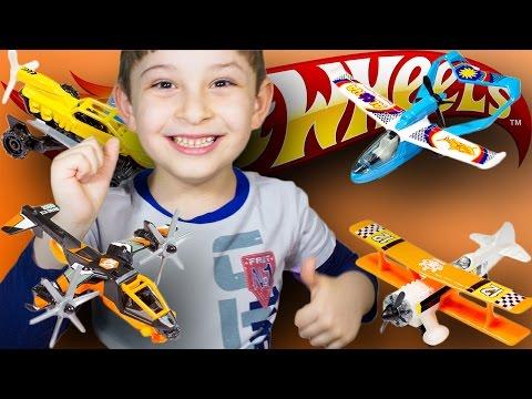 Офигенные #машинки #самолеты Хот Вилс. #Игрушки для мальчиков. #Распаковка. Мистер Ник