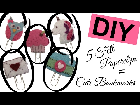 DIY Felt Paper-clip | Bookmark | CUTE