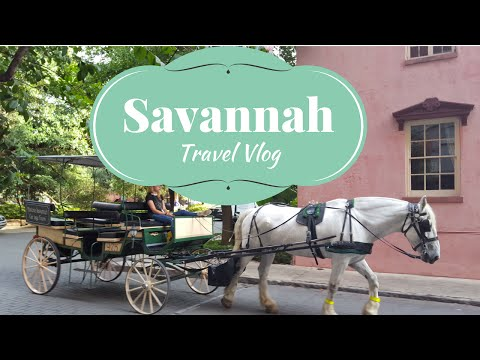 Beautiful Coastal City ,Savannah, Georgia - Travel Vlog