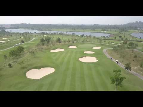 Siam Country Waterside Golf Course Complete 18 Hole Flyover