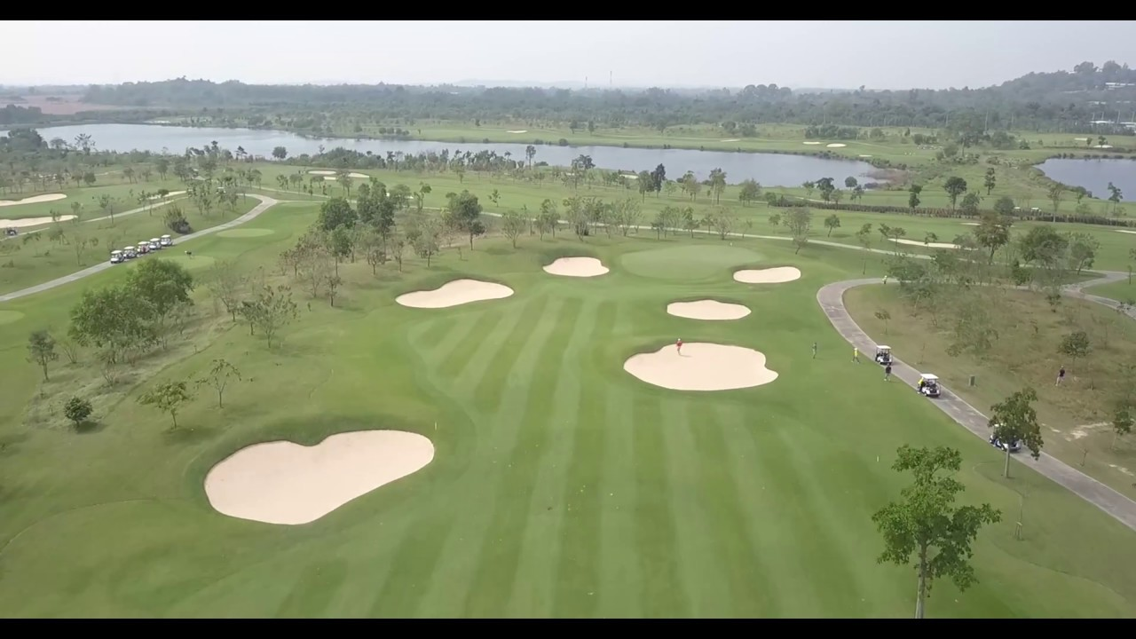 82f323243612 Siam Country Waterside Golf Course Complete 18 Hole Flyover - YouTube