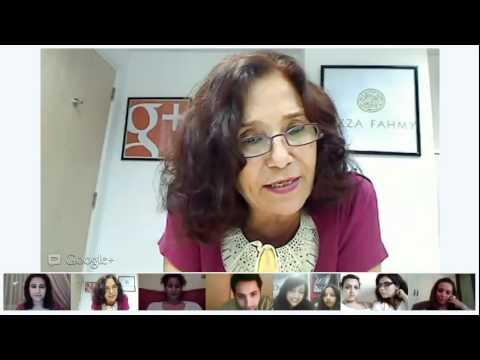 Azza Fahmy Google+ Hangout
