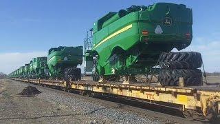 BNSF 6198 East- John Deere Combine Train, 4/9/2016