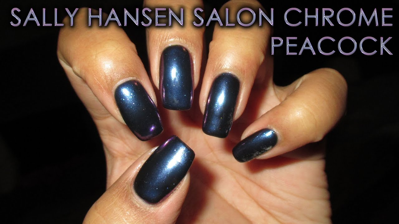 Sally Hansen Salon Chrome Peacock Diy Nail Art Tutorial Youtube